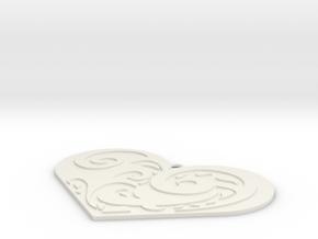 愛心.stl in White Natural Versatile Plastic