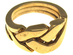 OoO Ring - Interlocking Metal in Interlocking Polished Brass