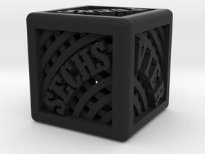 D6 Dice / D6 Würfel in Black Natural Versatile Plastic