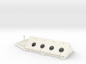 OX5-16 Scale-Upper Crankcase in White Processed Versatile Plastic