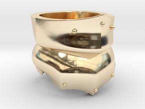 Bevor Ring in 14k Gold Plated Brass