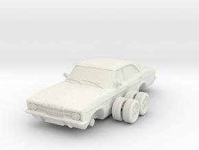 Ford Cortina Mk3 4 Door Single Round HL 1-25 in White Natural Versatile Plastic