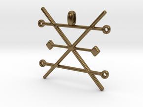 Copper Alchemy Symbol Pendant  in Natural Bronze