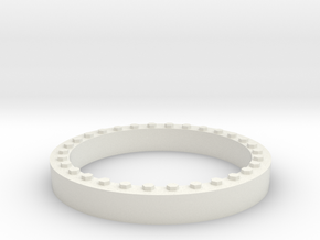 JConcepts Tribute Wheel Beadlock Ring for Monster  in White Natural Versatile Plastic