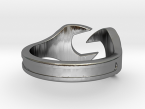 Wrench Ring in Polished Silver: 5 / 49