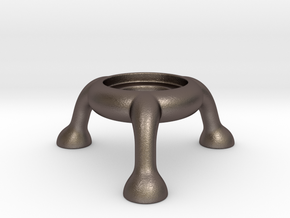 Explosive tealight holder (no horns) in Polished Bronzed Silver Steel