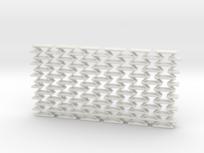 Negative Poisson metamaterial (soft) in White Strong & Flexible