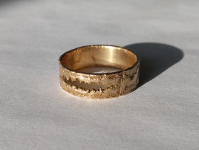 Smile Ring in Natural Bronze