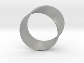 0155 Mobius strip (p=2, d=5cm) #003 in Aluminum