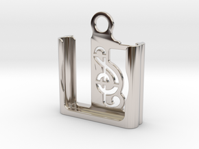 iPod Shuffle Case (4th gen.) in Rhodium Plated Brass