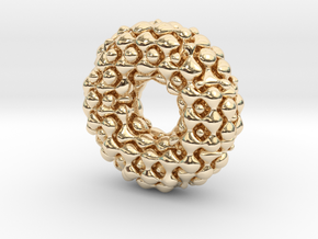 Color Möbius lattice (fat) in 14k Gold Plated Brass