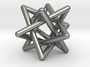 4 triangles in Natural Silver (Interlocking Parts): Small