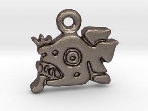 Mayan Jaguar Pendant in Polished Bronzed Silver Steel