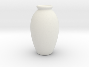 Urn Vase Hollow Form 2017-0009 various scales in White Natural Versatile Plastic: 1:48 - O