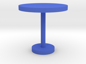 Modeling round table in Blue Strong & Flexible Polished