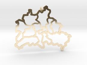 Berlin Pendant in 14k Gold Plated Brass