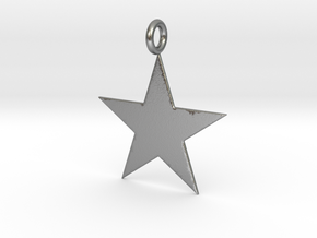 Star Pendant in Natural Silver