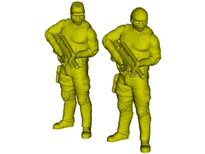 1/72 scale SpecOps operator soldier figures x 2 in Smoothest Fine Detail Plastic