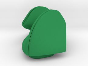 3D snap-fit Fortune Cookie  in Green Strong & Flexible Polished