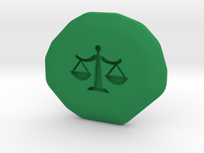 Justice Runestone in Green Strong & Flexible Polished