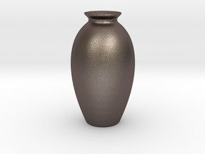 Urn Vase Hollow Form 2017-0009 various scales in Polished Bronzed Silver Steel: 1:12