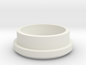 """Charging Cap - 1"""" Thin Wall Blank  in White Natural Versatile Plastic"""