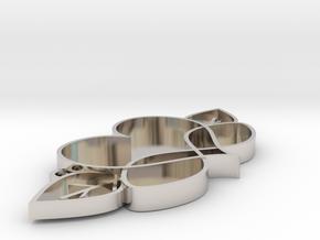 Love Blooms Infinite - Pendant in Rhodium Plated Brass: Medium
