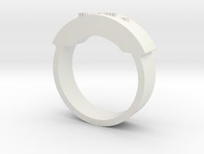 手環.STL in White Natural Versatile Plastic