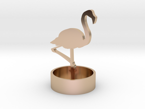 Flamingo in 14k Rose Gold