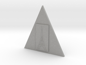 Eiffel Tower In A Triangle Button in Aluminum