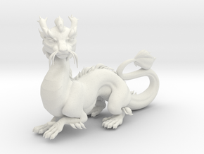 ImperialDragonSculpt in White Natural Versatile Plastic: Small