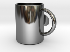 MUG.stl in Fine Detail Polished Silver