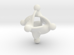 Unusual twisted D8 (knobs) in White Strong & Flexible: Medium