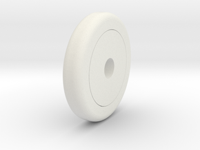 Bobby Car Wheel 1/25 in White Natural Versatile Plastic