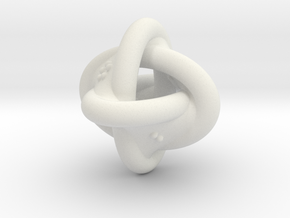 Unusual twisted D8 (rings) in White Natural Versatile Plastic: Extra Small