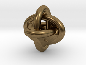 Unusual twisted D8 (rings) in Natural Bronze: Extra Small