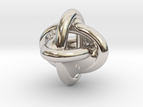 Unusual twisted D8 (rings) in Rhodium Plated Brass: Extra Small