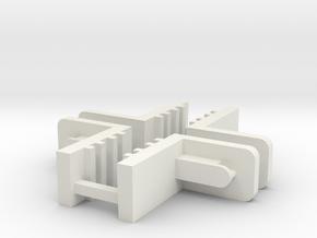FixLat Mosler MiniZ 2pr in White Natural Versatile Plastic