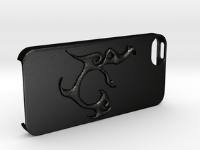 Iphone 5 Case Segunda Logo in Matte Black Steel
