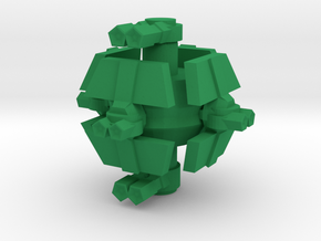 Colour Confederation Defence Platform in Green Processed Versatile Plastic