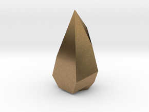Low poly Crystal in Natural Brass