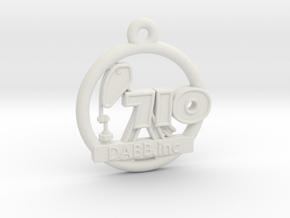 710 OIL Rig Pendant 001 in White Natural Versatile Plastic