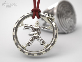 WestWorld CrazyBot pendant in Raw Silver