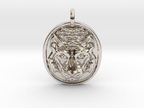 Tiger Pendant in Rhodium Plated