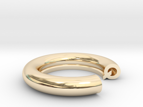 Q Ring in 14K Yellow Gold: 4 / 46.5