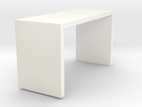 Square folding  table in White Strong & Flexible Polished