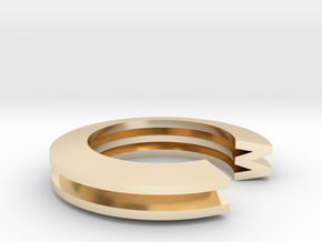 M Ring in 14K Yellow Gold: 4 / 46.5
