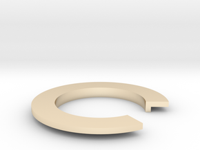 L Ring in 14K Yellow Gold: 4 / 46.5