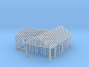 Framed House N Scale 1-160 in Smooth Fine Detail Plastic