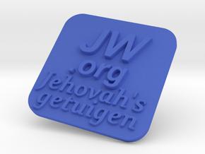 JW.org plate in Blue Processed Versatile Plastic